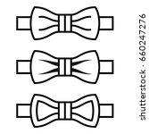 vector bow tie black line... | Shutterstock .eps vector #660247276