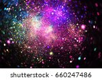 Abstract Pink  Blue  Green And...