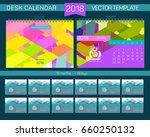 desk calendar 2018 vector... | Shutterstock .eps vector #660250132