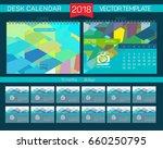 desk calendar 2018 vector... | Shutterstock .eps vector #660250795