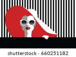 beautiful young woman with... | Shutterstock .eps vector #660251182