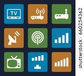 antenna icons set. set of 9...   Shutterstock .eps vector #660254362