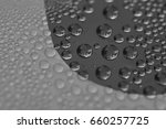 water droplets on shiny...   Shutterstock . vector #660257725
