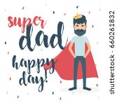 greeting card. happy father s... | Shutterstock .eps vector #660261832