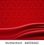 Red Fabric Satin Vector...