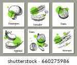 vegetables background set.... | Shutterstock .eps vector #660275986
