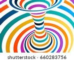 Colorful Vector Op Art Pattern...