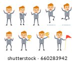 set of cheerful businessman... | Shutterstock .eps vector #660283942