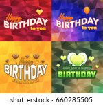 happy birthday greeting card... | Shutterstock .eps vector #660285505