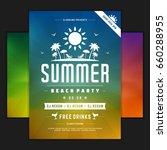 retro summer party design... | Shutterstock .eps vector #660288955