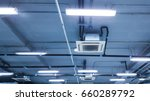 cassette type  air condition on ...   Shutterstock . vector #660289792