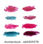 strokes of nail polish isolated. | Shutterstock . vector #660305578