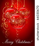 merry christmas background. | Shutterstock .eps vector #66030670