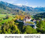 panoramic aerial view on... | Shutterstock . vector #660307162
