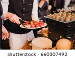 catering banquet table at... | Shutterstock . vector #660307492