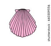 pink sea shell vector... | Shutterstock .eps vector #660309556