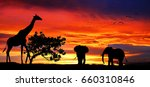 animals in the landscape | Shutterstock . vector #660310846