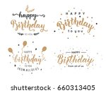 set of happy birthday... | Shutterstock .eps vector #660313405