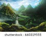 aztec temple | Shutterstock . vector #660319555