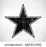 grunge star symbol.vector... | Shutterstock .eps vector #660321982