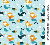 seamless vector pattern with... | Shutterstock .eps vector #660324502
