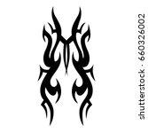 tattoo tribal vector design.... | Shutterstock .eps vector #660326002