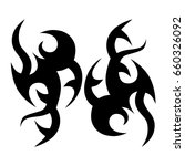 tribal tattoo art designs.... | Shutterstock .eps vector #660326092
