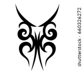 tattoo tribal vector design.... | Shutterstock .eps vector #660326272