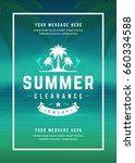summer sale banner shopping on... | Shutterstock .eps vector #660334588
