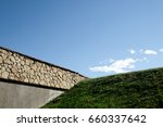 amazing clearly sky  the brick... | Shutterstock . vector #660337642