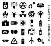 energy icons set. set of 25... | Shutterstock .eps vector #660339946