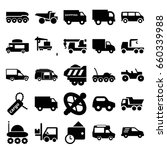 truck icons set. set of 25... | Shutterstock .eps vector #660339988
