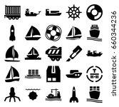 Ship Icons Set. Set Of 25 Ship...