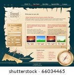 grey vector web site for travel