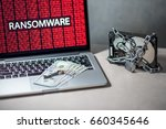 hard disk file locked with... | Shutterstock . vector #660345646