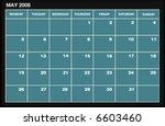 vector 2008 may calender | Shutterstock .eps vector #6603460