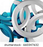 modern 3d geometrical style... | Shutterstock .eps vector #660347632