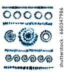 set of tie dye art brushes.... | Shutterstock .eps vector #660347986