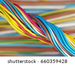 the twisted electric wires a... | Shutterstock . vector #660359428