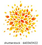 orange autumn leaves vector... | Shutterstock .eps vector #660365422