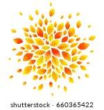 orange autumn leaves vector... | Shutterstock .eps vector #660365422