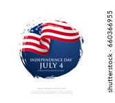 fourth of july independence day.... | Shutterstock .eps vector #660366955