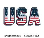 usa lettering with united... | Shutterstock .eps vector #660367465