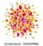 red autumn leaves vector splash ... | Shutterstock .eps vector #660369886