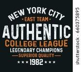 new york city college league ... | Shutterstock .eps vector #660375895