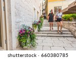 sibenik  croatia may 26 2017 ... | Shutterstock . vector #660380785