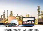 oil and gas refinery industry | Shutterstock . vector #660385606