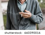 Hand Of An Old Man That Smokes...