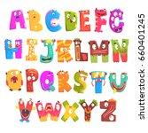 colorful cartoon children... | Shutterstock .eps vector #660401245
