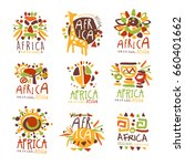 africa set for logo original... | Shutterstock .eps vector #660401662